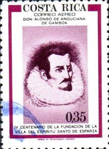 Stamp: Alonso de Anguciana de Gamboa (Costa Rica 1977) - TouchStamps
