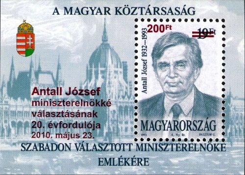 20th anniv. of election of prime minister Antall József