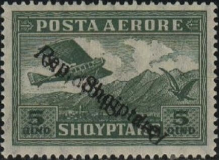 Airplane Crossing Mountains, overprinted