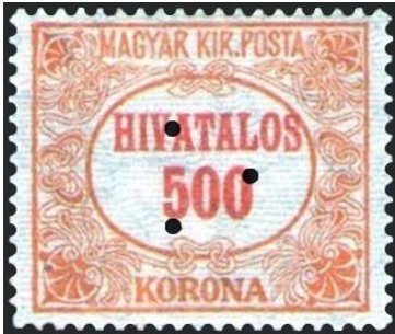 Official Stamp, triangular punching