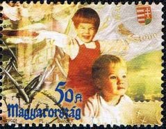 Millenium of Hungary, children representing the future
