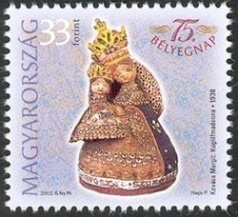 75th Stamp Day - Pound Cake Madonna, by Margit Kovács