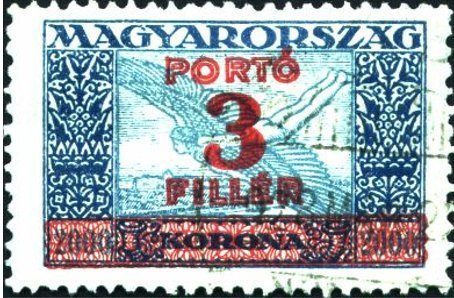 Air Mail Stamps, overprinted with new value