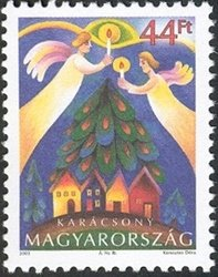 Stamp, Christmas 2003, Hungary,  , Christmas