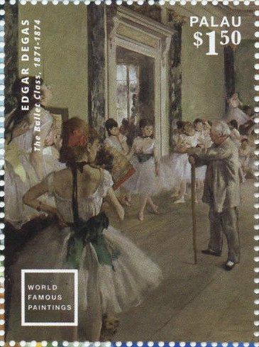 """The Ballet Class""(1871-74), by Edgar Degas"
