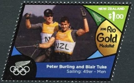 Peter Burling & Blair Tuke (gold, sailing: 49er - men)