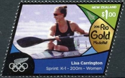 Lisa Carrington (gold, sprint K 1 - 200m - women)