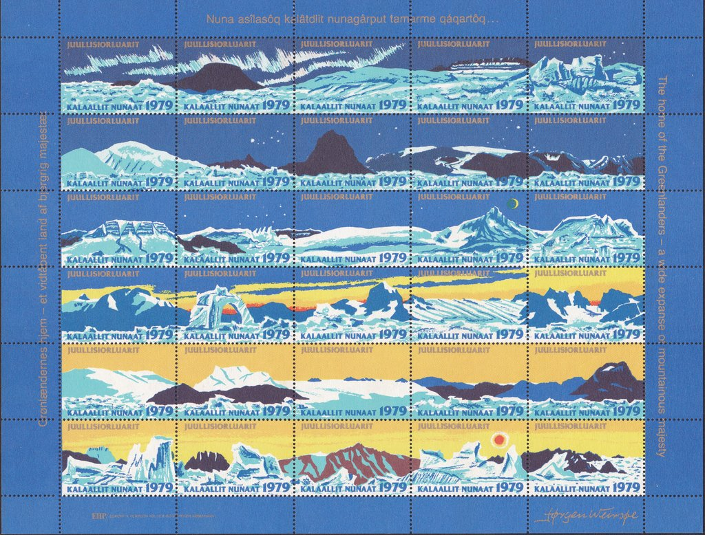 Christmas 1979, Landscapes, Sheet of 30 different Stamps