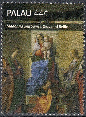 """Madonna and Saints"", by Giovanni Bellini"