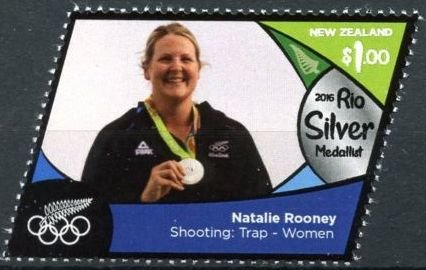 Natalie Rooney (silver, shooting: trap - women)