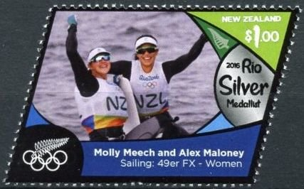 Molly Meech & Alex Mahoney (silver, sailing: 49er - women)