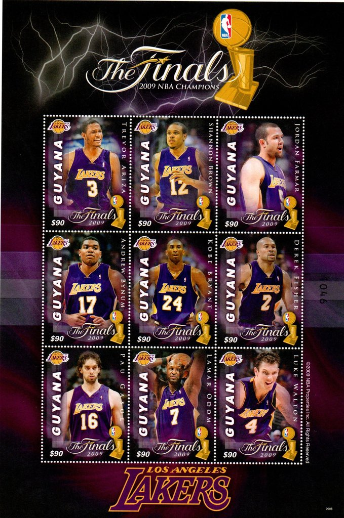 9 players from Los Angeles Lakers