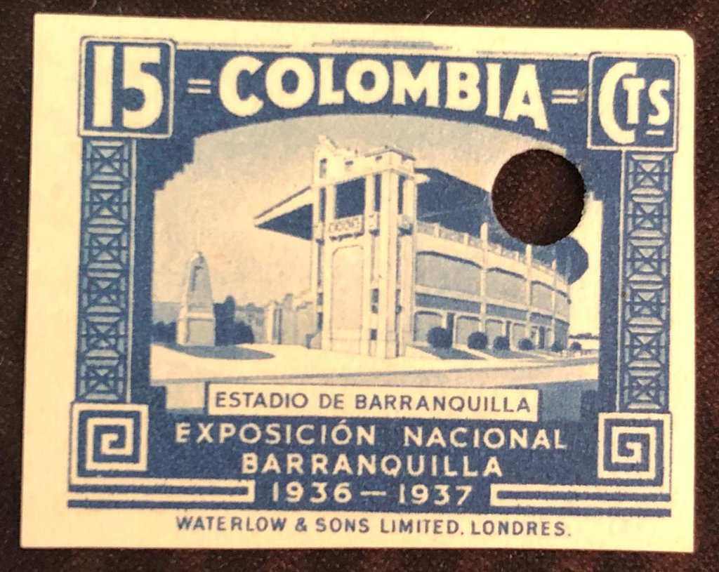 Stadium at Barranquilla (imperforated)