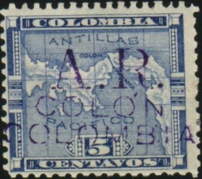 """A.R."" Colon Colombia Overprint"
