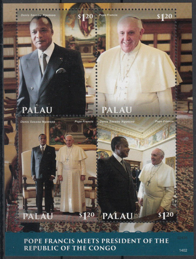 Pope Francis meets the President of the Republic of Congo