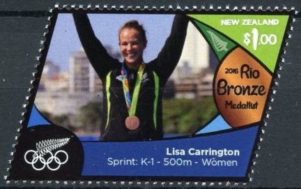 Lisa Carrington (gold, sprint K 1 - 500m - women)