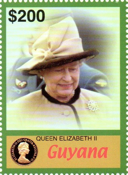 Queen Elizabeth II wearing black edged fawn Jacket and hat
