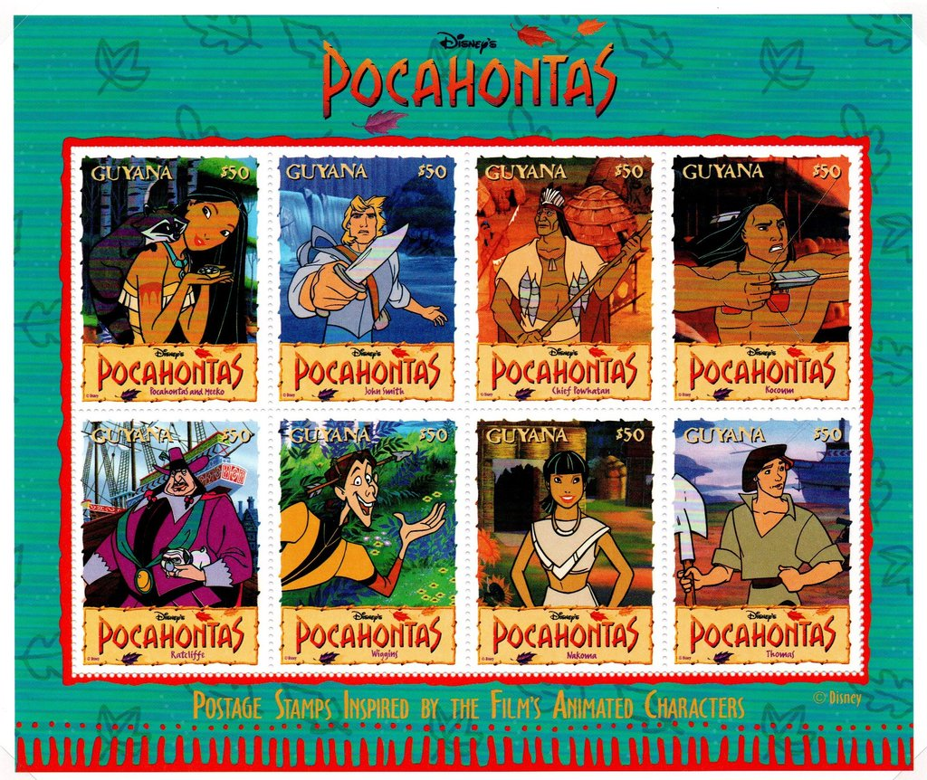Characters from Pocahontas