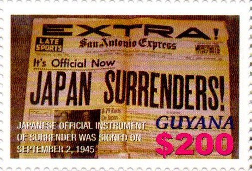 "Newspaper Headlines ""JAPAN SURRENDERS"""