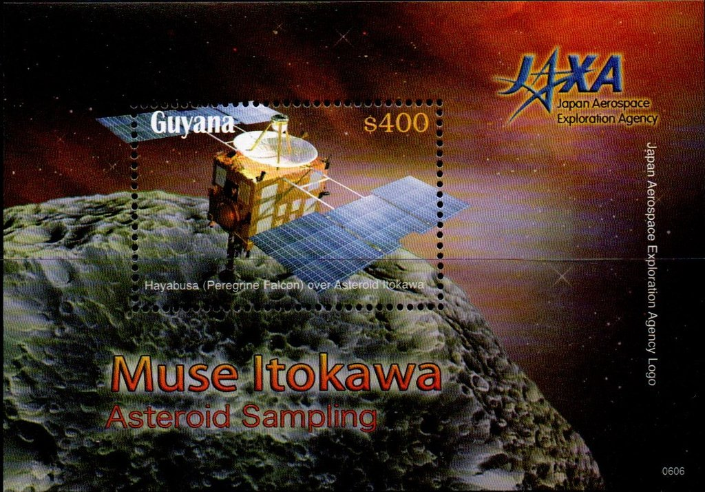 Hayabusa Spacecraft over Asteroid Itokawa