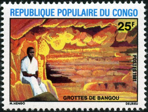 Man in the cave of Bangou