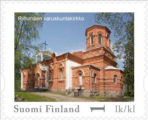 Stamp, Day of Stamps - Riihimäki, Garrison Church, Finland,  , Buildings, Churches - Cathedrals - Basilicas - Chapels