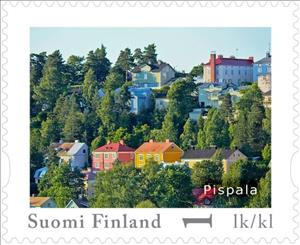 Stamp, Day of Stamps - Tampere, Pispala, Finland,  , Buildings, Townscapes / City Views