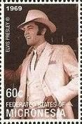 Stamp, Elvis Presley, Micronesia, Federated States of,  , Actors, Composers, Entertainers, Famous People, Headgear, Music, Musicians, Singers