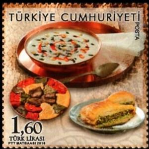 Stamp, Gaziantep, creative city of gastronomy, Turkey,  , Food, Gastronomy