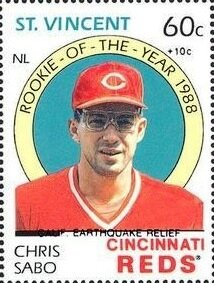 Stamp, Chris Sabo, Saint Vincent and The Grenadines,  , Baseball, Famous People, Sports