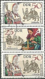 Se-tenant, Pictures of Folklore, Germany, Democratic Republic (DDR),  , Folklore, Suits and Costumes
