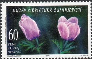 Stamp, Flowers, Northern Cyprus,  , Plants (Flora)