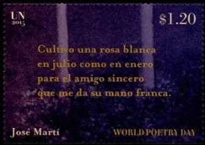 Stamp, World Poetry Day, UNO New York,  , Literature, Poems