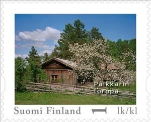Stamp, Day of Stamps - Lohja, Finland,  , Buildings, Trees