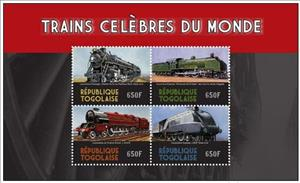 Mini Sheet, Steam Locomotives, Togo,  , Locomotives, Railways