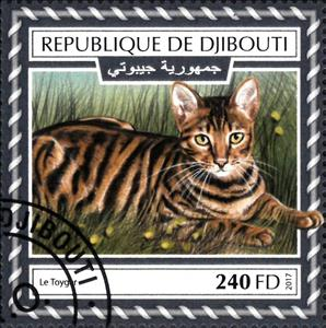Stamp, Le Toyger, Djibouti,  , Animals (Fauna), Cats, Mammals
