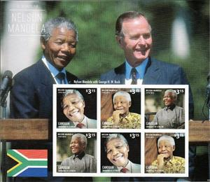 Mini Sheet, Nelson Mandela, Saint Vincent Grenadines,  , Famous People, Freedom Fighters, Heads of State