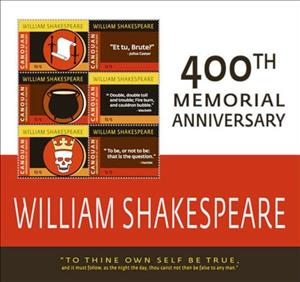 Mini Sheet, William Shakespeare 100th Memorial Anniversary, Saint Vincent Grenadines,  , Famous People