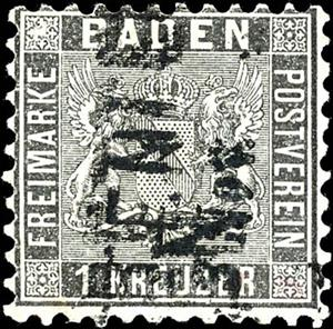 Stamp, Coat of arms (background lined), German States,  , Coats of Arms