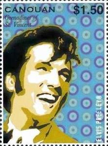 Stamp, Elvis Presley, Saint Vincent Grenadines,  , Actors, Anniversaries and Jubilees, Entertainers, Famous People, Men, Music, Musicians, Singers