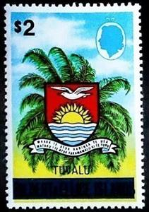 Stamp, Coat Of Arms, Tuvalu,  , Coats of Arms