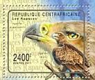 Stamp, Aquila rapax rapax, Central African Republic,  , Birds of Prey