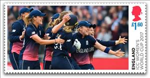 Stamp, Women's International Cricket Champions 2017, United Kingdom of Great Britain & Northern Ireland,  , Athletes, Cricket, Sports