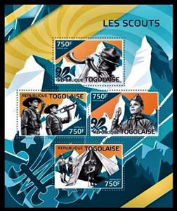 Mini Sheet, Scouts, Togo,  , Organizations, Scouting