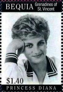 Stamp, Princess Diana, Saint Vincent Grenadines,  , Princesses