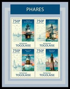 Mini Sheet, Lighthouses, Togo,  , Buildings, Lighthouses