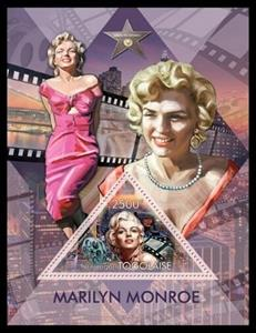 Souvenir Sheet, 50th Anniversary of the Death of Marilyn Monroe, Togo,  , Actors, Famous People